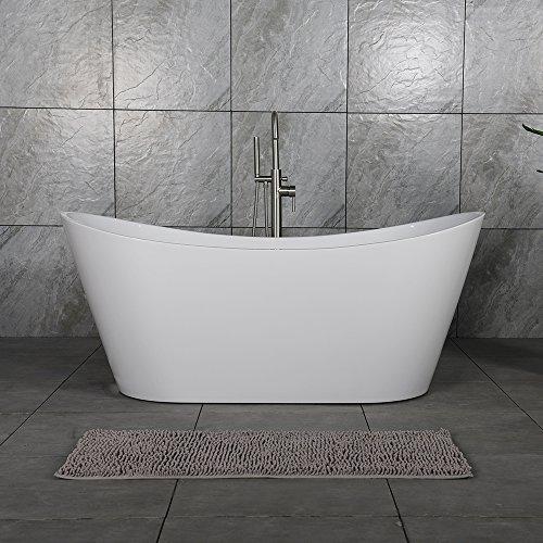 Woodbridge 59' Acrylic Freestanding Bathtub Contemporary Soaking Tub with...