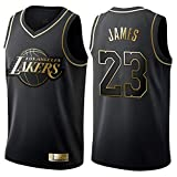 Retro Basketball Uniform NBA Lakers 23# James Summer Sports Jersey, Canotta da Basket Classic Ricamo Top