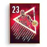 fdgdfgd El póster de Michael Jordan en el póster de Seda del Arte del Baloncesto Imprime la decoración de la Pared del hogar
