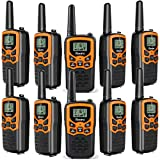Rivins RV-7 Walkie Talkies for Adults Long Range 10 Pack 2-Way Radios Up to 3 Miles Range in Open Field 22 Channel FRS/GMRS Walkie Talkies UHF Handheld Walky Talky (10 Pack)