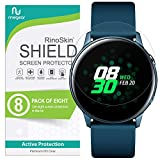 (8-Pack) RinoGear Screen Protector for Samsung Galaxy Watch Active 2 (40mm), Galaxy Watch Active Case Friendly Galaxy Watch Active2 or Active1 Screen Protector Accessory Full Coverage Clear Film