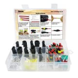 10 Set Car Waterproof Electrical Connector Plug Terminals Heat Shrink 2/3 Pin Way with 24Pcs Fuses, Clear Box