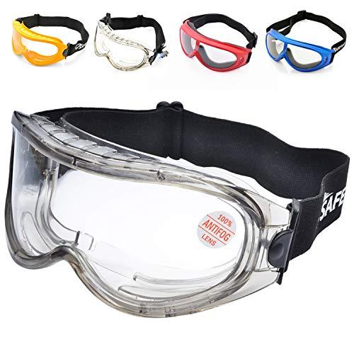 SAFEYEAR Occhiali Protettivi da Lavoro Antigraffio - SG007 Antiappannamento Occhiali Protezione...