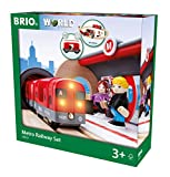 BRIO 33513 Metro Railway Set   20 Piece Train Toy with Accessories and Wooden Tracks for Kids Age 3 and Up