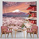 Tapisserie Murale Japonaise Tapisserie de Montagne de Fuji Asiatique Décoration...