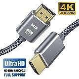 SUCESO Câble HDMI 4K 2M Câble HDMI 2.0 Haute Vitesse par Ethernet en Nylon...