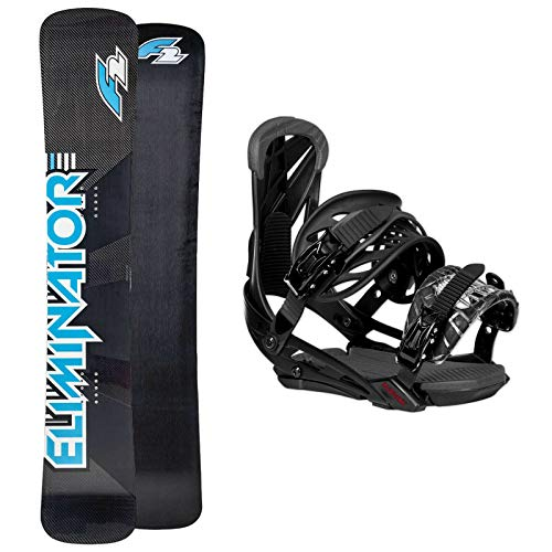 Sconosciuto F2 Snowboard Eliminator WC Carbon 166 cm Wide 2019 + Eliminator BINDUNG L/XL