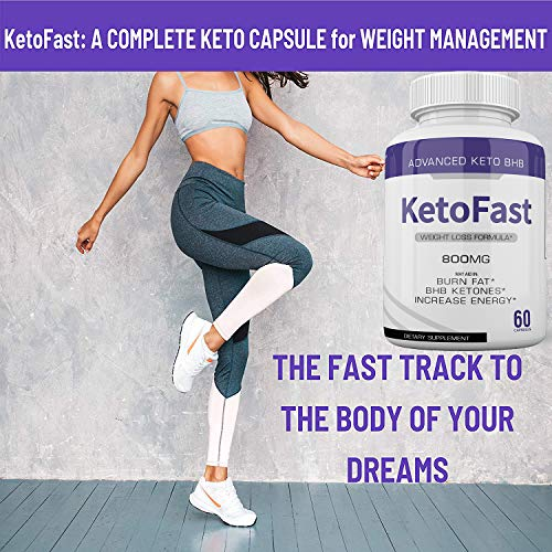(5-Pack) Keto Fast Diet Pills BHB Advanced Ketogenic Keto Fast Burn Ultra Weight Management Capsules 700mg Pure Keto Fast Supplement for Energy, Focus Boost Exogenous Ketones for Rapid Ketosis 2