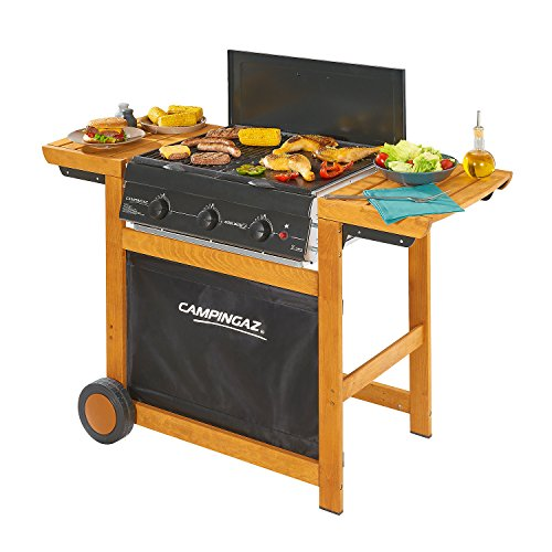 Campingaz Adelaide 3 Woody Grill Barbecue a Gas a 3 Bruciatore, Potenza di 14 kW, Sistema InstaClean...