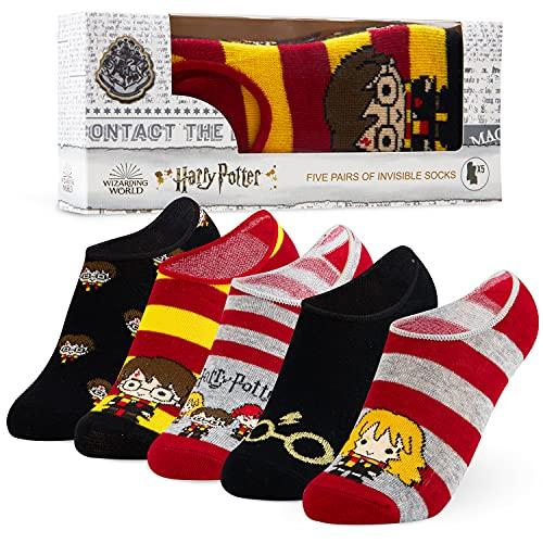 Harry Potter, calzini invisibili per bambini, 5 calzini a taglio basso, regalo di Harry Potter