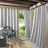 Sun Zero 53089  Valencia UV Protectant Indoor Outdoor Curtain Panel, 54' x 108', Gray