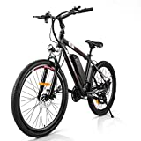 Rinkmo Electric Bike Adults Electric Mountain Bike 26in Power Assist Commuter Bicycle,20mph Ebike...