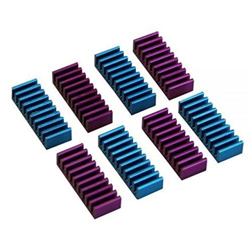 Inline 19029 Dissipatore Passivo RAM Heat Sink per Memorie 22 x 8 x 5 mm, Confezioni da 8, Nero