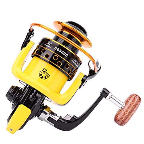 Mulinello da Pesca 12BB 5,2:1 Metal Feeder Fishing Reel Pesca mulinelli Attrezzatura da Pesca,2000model