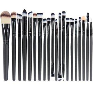 EmaxDesign 20 Pieces Makeup Brush Set Professional Face Eye Shadow Eyeliner Foundation Blush Lip Makeup Brushes Powder… 24