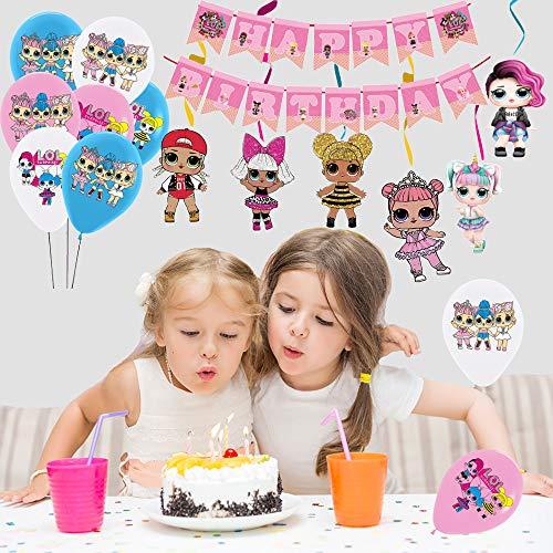 Image 6 - smileh Lol Anniversaire Décoration Lol Ballon Bannière de Joyeux Anniversaire de Lol Tourbillons Suspendus de Lol Surprise Dolls pour Fête d'anniversaire ou Fête d'anniversaire
