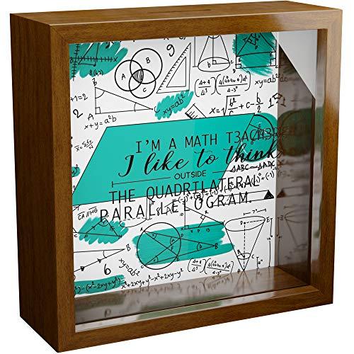 Math Teacher Gifts | 6x6x2 Memorabilia Shadow Box with Glass...