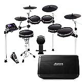 Alesis DM10 MKII Pro Kit + Strike Amp 12 | 10-Piece All-Mesh Electronic Drum Kit Bundled with 2000-Watt Ultra-Portable Powered Drum Speaker/Amplifier
