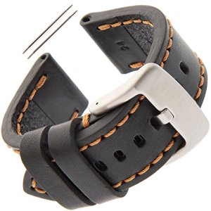 Gilden 20-26mm Gents Thick and Heavy Sport Calfskin Leather Watch Strap TS62