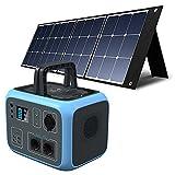 PowerOak Bluetti AC50S 500Wh Générateur Solaire Portable avec 1 Pièce Panneau Solaire 120W Groupe...
