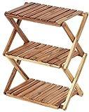 キャプテンスタッグ CS クラシックス 木製 3段 ラック <460> UP-2504 折りたたみ 木製ラック