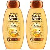 Garnier Whole Blends Honey Treasures Repairing Shampoo for Dry Damaged Hair, 22 Fl Oz (Pack of 2)
