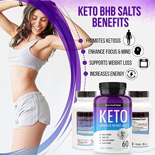 QFL NUTRA Keto Diet Pills - exogenous Ketones-Utilize Fat for Energy with Ketosis - Boost Energy & Focus, Manage Cravings, Support Metabolism - Keto BHB Supplement for Women and Men - 90 Day Supply 5