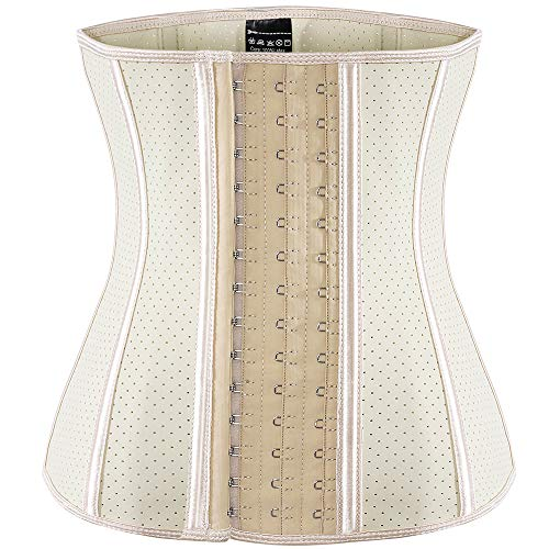 ECOWALSON Waist Trainer for Women Corset Cinher Body Shaper with Steel Bones and Extender 4