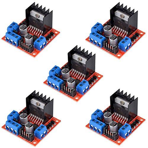 Main chip: L298N, Dual-Channel h-bridge modalità di lavoro driver crea una maggiore efficienza di lavoro Utilizzare grande capacità filtro condensatori e diodi con funzione di protezione ruota libera, aumentare l' affidabilità Alto potere di funzion...