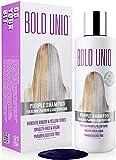 Silber Shampoo - Anti-Gelbstich Purple Shampoo für blonde, blondierte, gesträhnte und graue Haar - No Yellow von für Silber- Aschblond-Tönung - ohne Sulfat & Paraben - Bold Uniq by B Uniq