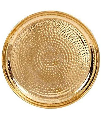 INDIAN CRAFTIO Brass Hammered Dinner Plate