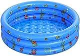 Piscine Gonflable de Rembourrage de Petite Piscine pour Enfants Ronde Pliable en PVC pour Douche familiale Baignoire Portable en Centre de Jeu de l'eau pêche (100-CM)