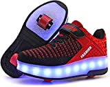 SRD-USB Rechargeable Clignotante Chaussures à roulettes, 31 Colorés LED...