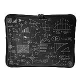 Regular Funny Math Formula Quadrant - Bolsas de ordenador portátil divertidas y resistentes al desgaste - Funny Science Laptop Bag adecuado para viajeros, blanco (Blanco) - Lind88-DNB-8