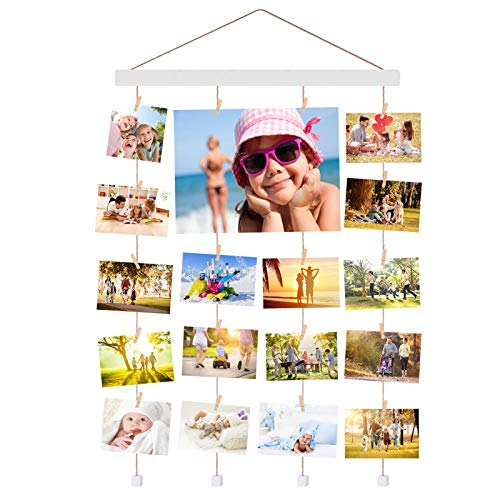 Halvalo Hanging Photo Picture Frame Collage, Hanging Wall Photo...