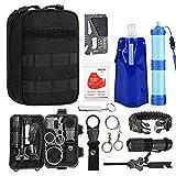 TOUROAM Emergency Survival Kit Sac Sauvetage Tactique Pouch Water Purifier Filtre à Eau Paille,5 in...