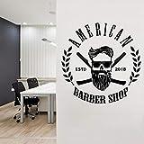 Vinilos Adhesivos para barberos, Personalizados, peluqueros, Hombres, peluqueros, Barbas, aparatos faciales, Logotipos, Paredes de salón, murales de calcas