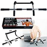 DICHEER Pull Up Bar Upper Body Workout Bar Strength Training- Home Workout Equipment Pushup Stands for Floor Workouts Men Women