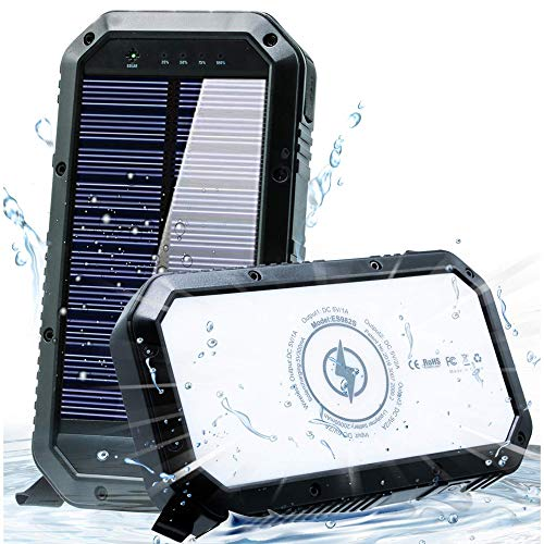 Solar Phone Charger 25000mAh Solar Charger for Cell Phone -...