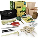 Bonsai Starter Kit + Tool Kit - The Complete Kit to Easily Grow 4 Bonsai Trees from Seed with Comprehensive Guide & Bamboo Plant Markers - Unique Gift Idea Bonsai