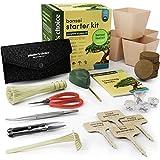 Bonsi Kit de Iniciacin + Kit de Herramientas - Kit Completo para Cultivar Fcilmente 4 rboles Bonsi con Semillas con una Gua Completa y Marcadores de Plantas de Bamb - Idea de Regalo nica