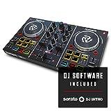 Numark Party Mix - Contrôleur DJ 2 Voies Plug-And-Play / Serato DJ Lite / Table de Mixage, Interface Audio / Carte Son Intégrée, Commandes de Pads, Crossfader, Jog Wheels et Éclairage Lumineux