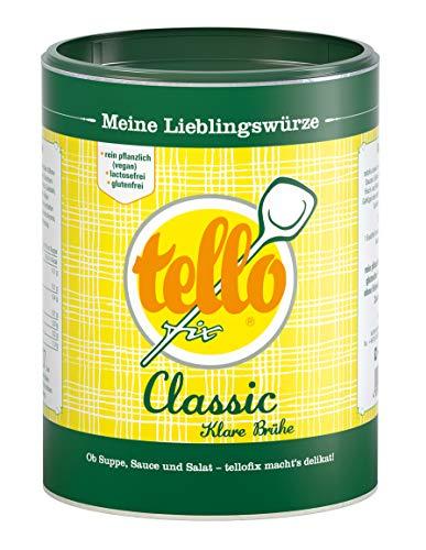 tellofix Classic Klare Brühe - Vielseitige Gemüse Brühe, als Universal-Würzmittel zum Verfeinern einsetzbar - kalorienarm - 1 x 540 g
