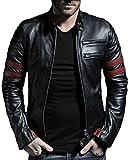 Laverapelle Men's Genuine Lambskin Leather Jacket (Black, Extra Large, Polyester Lining) - 1501535