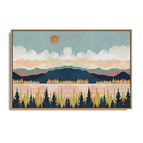 SIGNFORD Framed Canvas Home Artwork Decoration Abstract Mountain Nature Scenery Canvas Wall Art for Living Room,...