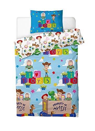 Toy Story 4 Set di Biancheria da Letto per Bambini a Tema Woody e Giocattoli di Toy Story Con Buzz...