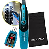 Circuit Breaker Finder with GFCI Circuit Tester & LED flashlight: 3-in-1 Circuit Breaker Finder Multitool to quickly identify the right Circuit Breaker is powering an outlet accurately by VersativTECH