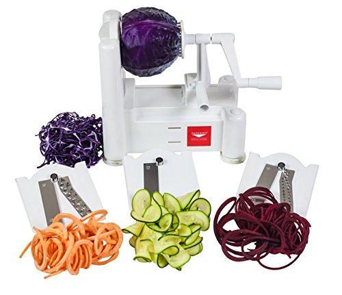 Paderno World Cuisine 3-Blade Vegetable Spiralizer