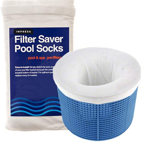 20-pack of pool skimmer socks- Perfect savers for filters, baskets