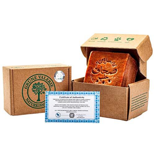 Grüne Valerie® Jabón original de Alepo 200g+ 70% / 30% ac